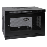 Tripp Lite SmartRack 9U Low-Profile Switch-Depth Wall-Mount Rack Enclosure Cabinet
