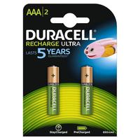 Pile Duracell Ricaricabile ministilo AAA 900 mah hr03/dx2400- conf. 2