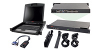 "APC 2x1x16 IP KVM w/ 17"" Rack LCD & USB VM Server Module Bundle 1U Nero switch per keyboard-video-mouse (kvm)"