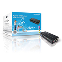 Conceptronic 4 ports USB KVM Switch with audio