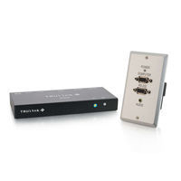 C2G TruLink Wall Plate Transmitter/Box Receiver Kit AV transmitter & receiver Nero, Bianco