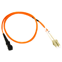 C2G 10m LC/MTRJ Duplex 62.5/125 Multimode Fiber Patch Cable w/ Clips - Orange 10m Arancione cavo a fibre ottiche