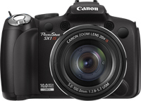 "Canon PowerShot SX1 IS 10MP 1/2.3"" CCD 3648 x 2736Pixel Nero"