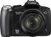 "Canon PowerShot SX10 IS 10MP 1/2.3"" CCD 3648 x 2736Pixel Nero"