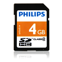 Philips FM04SD35B/27 4GB SDHC Classe 4 memoria flash