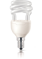 Philips Tornado 871829111716200 8W E14 A Bianco caldo lampada fluorescente energy-saving lamp