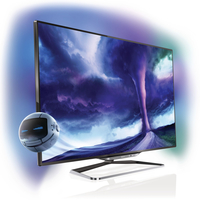 "Philips 8000 series 46PFL8008K/12 46"" Full HD Compatibilità 3D Smart TV Wi-Fi Nero LED TV"