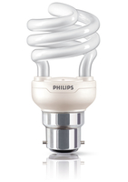 Philips Tornado 871829111692901 12W B22 A Bianco caldo lampada fluorescente energy-saving lamp
