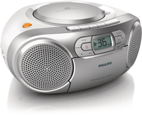 Philips AZ127/05 Portable CD player Argento CD player