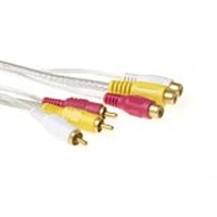 Intronics Audio + Video cable 3x Cinch M - 3x Cinch F 3.0m 3m cavo video composito