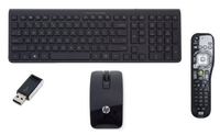 HP Wireless Sydney-Melbourne - Dongle - Remote control SP RO RF Wireless QWERTY Rumeno Nero tastiera