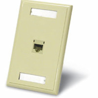 C2G Single Cat5E RJ45 Configured Wall Plate - Ivory Avorio supporto da parete per tv a schermo piatto