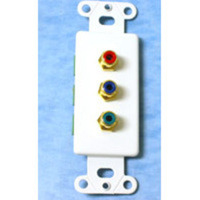 C2G Decorative Red/Green/Blue Component Video Wall Plate Insert - White Bianco supporto da parete per tv a schermo piatto