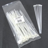 C2G 6in Cable Ties - White 100pk Bianco fascetta