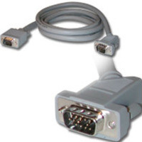 C2G 10ft Premium Shielded HD15 M/M SXGA Monitor Cable (45° Angled Male Connector) 3m VGA (D-Sub) VGA (D-Sub) Grigio cavo VGA