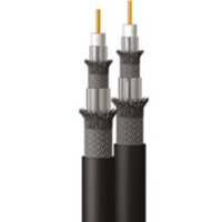 C2G 250ft Dual RG6/U Quad Shield In Wall Coaxial Cable 76.2m Nero cavo coassiale