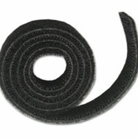 C2G 10ft Hook / Loop Cable Wrap Nylon Nero fascetta