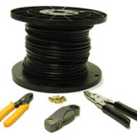 C2G 250ft RG6 Dual Shield Coaxial Cable Installation Kit 75m cavo coassiale
