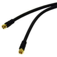 C2G 100ft Value Series F-type RG6 Coaxial Video Cable 30.48m Nero cavo coassiale