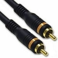 C2G 3m Velocity Digital Audio Coax Cable 3m RCA RCA Nero cavo coassiale