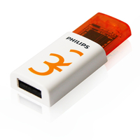 Philips FM32FD60B/10 32GB USB 2.0 Tipo-A Arancione, Bianco unità flash USB