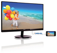 "Philips 274E5QHAB/75 27"" Full HD AH-IPS Nero, Ciliegio monitor piatto per PC LED display"