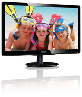 "Philips 200V4LSB/01 19.5"" HD LCD/TFT Nero monitor piatto per PC LED display"