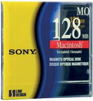 "Sony Magneto Optical Disk 3.5"" MAC formatted 128MB 3.5"" disco ottico-magnetico"