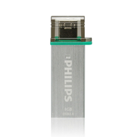 Philips FM08DA132B/97 8GB USB 3.0 (3.1 Gen 1) Tipo-A Acciaio inossidabile unità flash USB