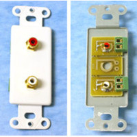 C2G Decorative Red/White Dual RCA Wall Plate Insert - Ivory Avorio supporto da parete per tv a schermo piatto