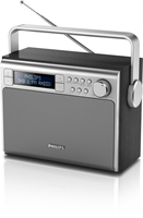 Philips AE5020B/12 Portatile Digitale Nero, Argento radio