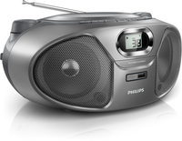Philips AZ385A/12 Grigio, Argento CD player