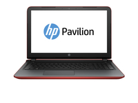 "HP Pavilion 17-g127ds Ref 1.6GHz N3700 17.3"" 1600 x 900Pixel Touch screen Rosso Computer portatile"