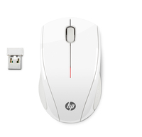 HP Mouse wireless X3000 Bianco neve