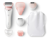 Philips SatinShave Prestige BRL180/00 1testina/e Trimmer Rosa, Bianco rasoio da donna