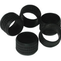 C2G Black Rubber Connector Grip - 20pk Gomma Nero fascetta