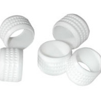 C2G White Rubber Connector Grip - 20pk Gomma Bianco fascetta