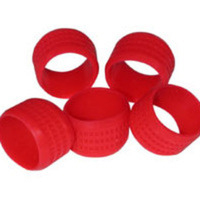 C2G Red Rubber Connector Grip - 20pk Gomma Rosso fascetta