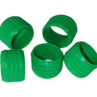C2G Green Rubber Connector Grip - 20pk Gomma Verde fascetta
