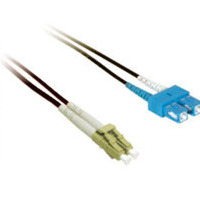 C2G 10m LC/SC Plenum-Rated 9/125 Duplex Single-Mode Fiber Patch Cable 10m LC SC Nero cavo a fibre ottiche