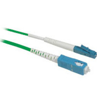 C2G 10m LC/SC Plenum-Rated 9/125 Simplex Single Mode Fiber Patch Cable 10m LC SC Verde cavo a fibre ottiche