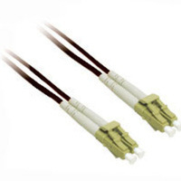 C2G 10m LC/LC Plenum-Rated Duplex 50/125 Multimode Fiber Patch Cable 10m Nero cavo a fibre ottiche