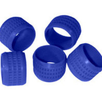 C2G Blue Rubber Connector Grip - 20pk Gomma Blu fascetta