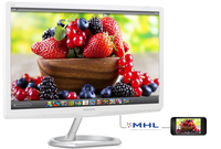 "Philips 276E6ADSS/27 27"" Full HD IPS-ADS Argento, Bianco monitor piatto per PC"