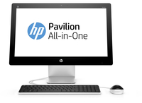 "HP Pavilion 23-q190nd 1.8GHz A10-8700P 23"" 1920 x 1080Pixel Touch screen Argento PC All-in-one"