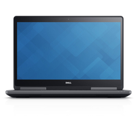 "DELL Precision M7710 2.7GHz i7-6820HQ 17.3"" 3840 x 2160Pixel Nero, Grafite Workstation mobile"
