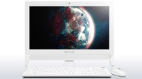 "Lenovo IdeaCentre C20-00 1.6GHz J3710 19.5"" 1920 x 1080Pixel Bianco PC All-in-one"