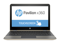 "HP Pavilion x360 13-u102na 2.50GHz i5-7200U 13.3"" 1366 x 768Pixel Touch screen Oro, Argento Ibrido (2 in 1)"