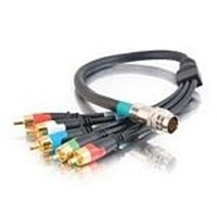 C2G 0.5m RapidRun Component Video + Stereo Audio V.2 Break-Away Flying Lead 0.5m Verde