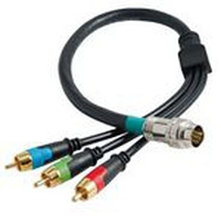 C2G 0.5m RapidRun RCA Component Video Flying Lead 0.5m RCA RCA Nero